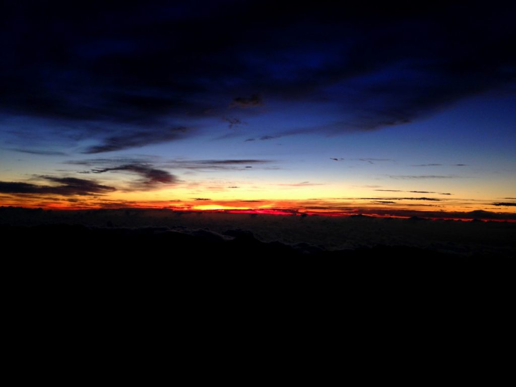 sunrise at Haleakala, Hawaii