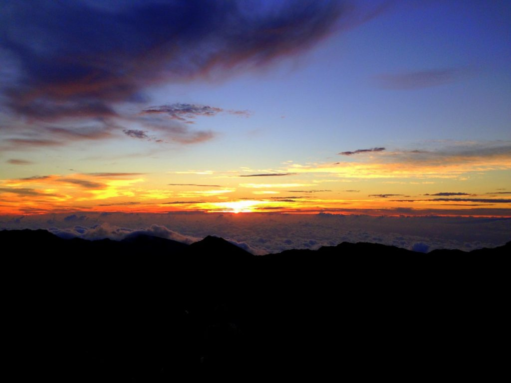 East Maui Volcano - sunrise at Haleakala, Hawaii