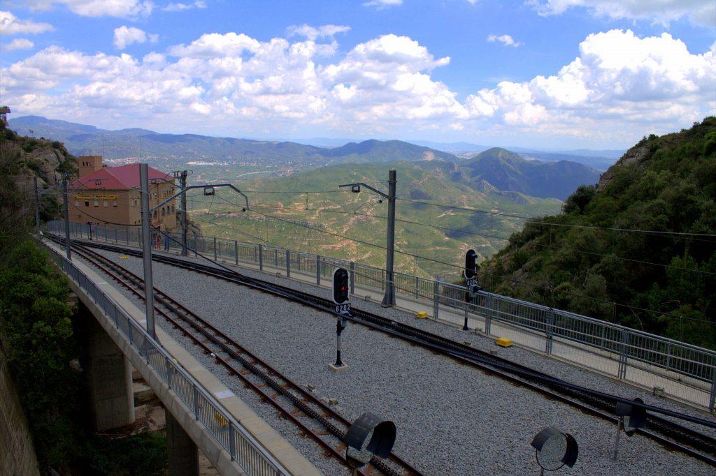Rack Railway (Cremallera de Montserrat), Montserrat in Spain