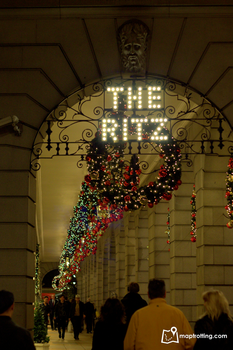 The Ritz Christmas decorations_London