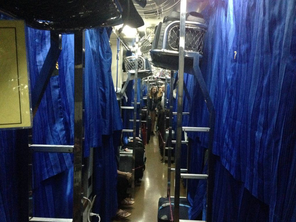 Sleeper train in Thailand