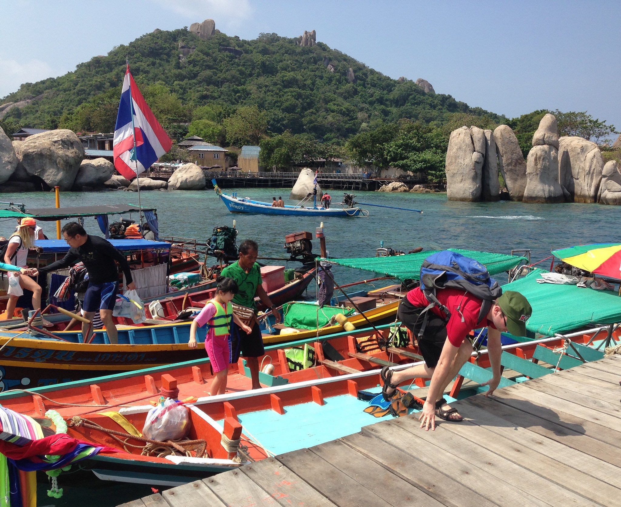 Arriving to Koh Nang Yuan island