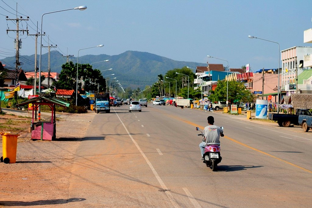 Local town near Thung Wua Laen Beach