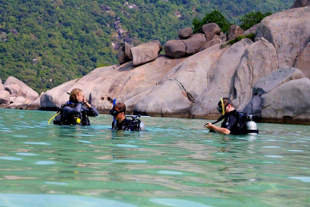 Divers paradise - Koh Nang Yuan island, Thailand