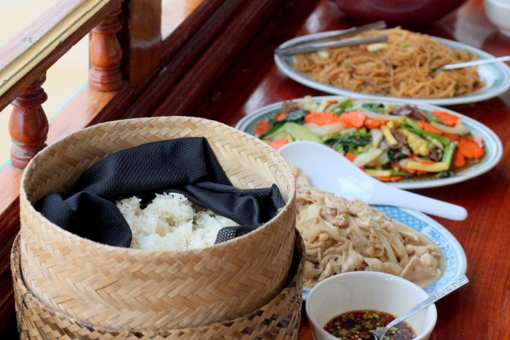 Lunch onboard the slow boat to Luang Prabang
