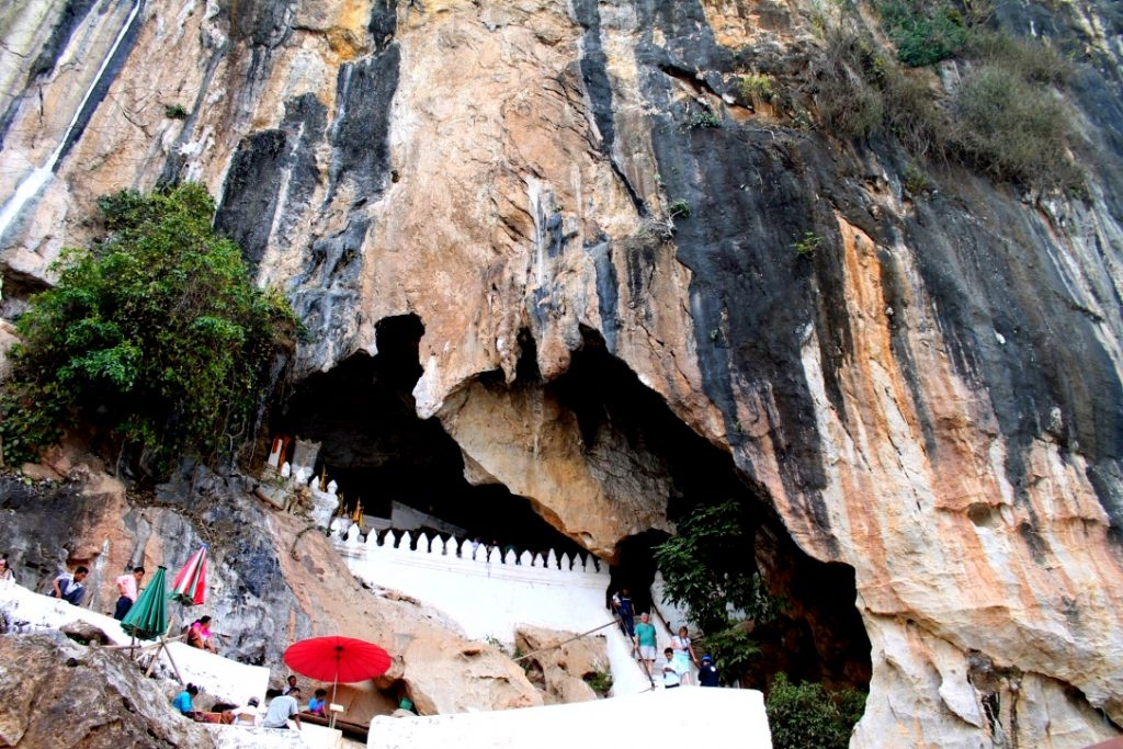 Pak Ou cave entrance, Mekong River