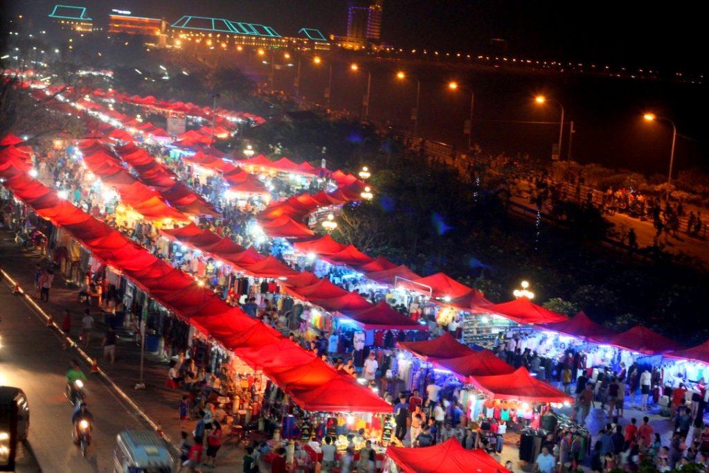 Night market, Vientiane, Laos