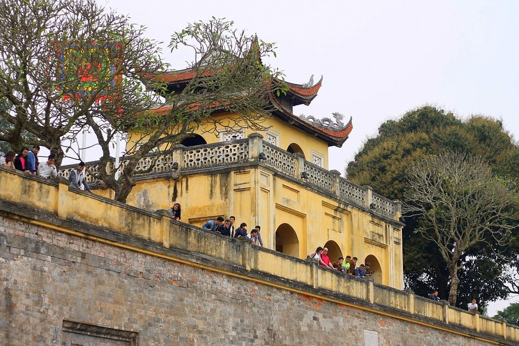 Imperial Citadel in Hanoi - military base, secret bunkers and peaceful surroundings, Vietnam