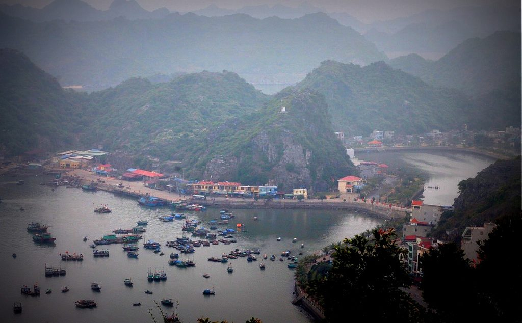 Panoramic view on Cat Ba Island