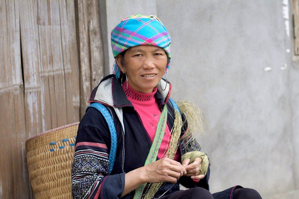 A local ethnic woman in Ta Van Village Vietnam