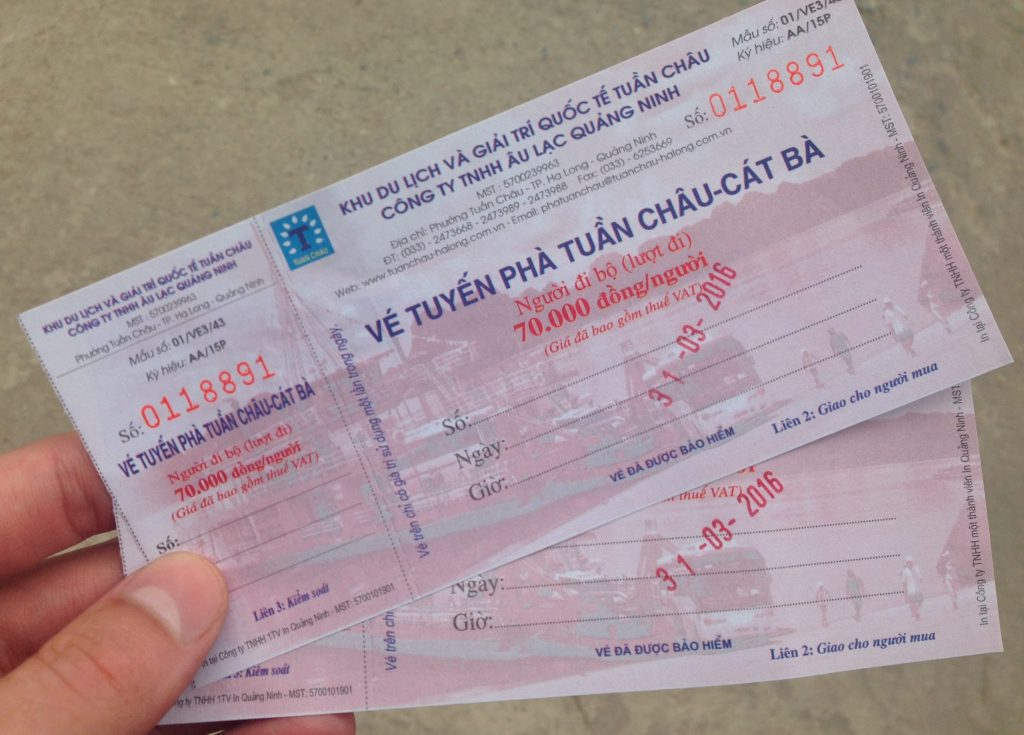 Cat Ba island ferry tickets