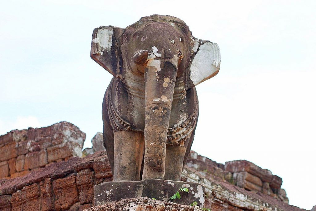 Elephant at East Mebon temple in Angkor