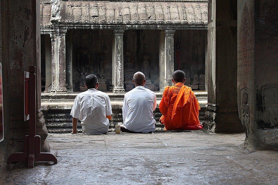 Angkor Wat monk Cambodia