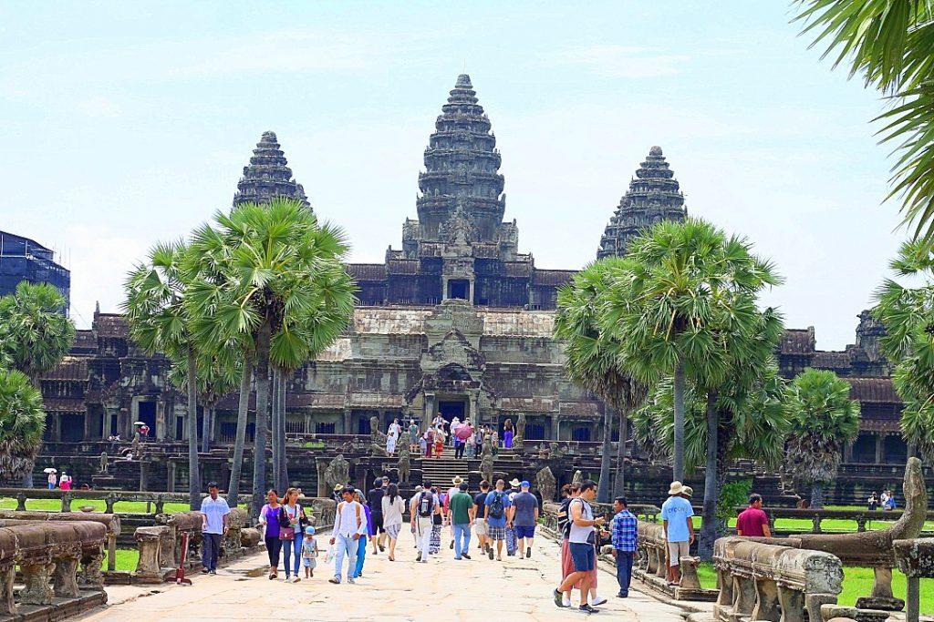 Angkor Wat front Cambodia