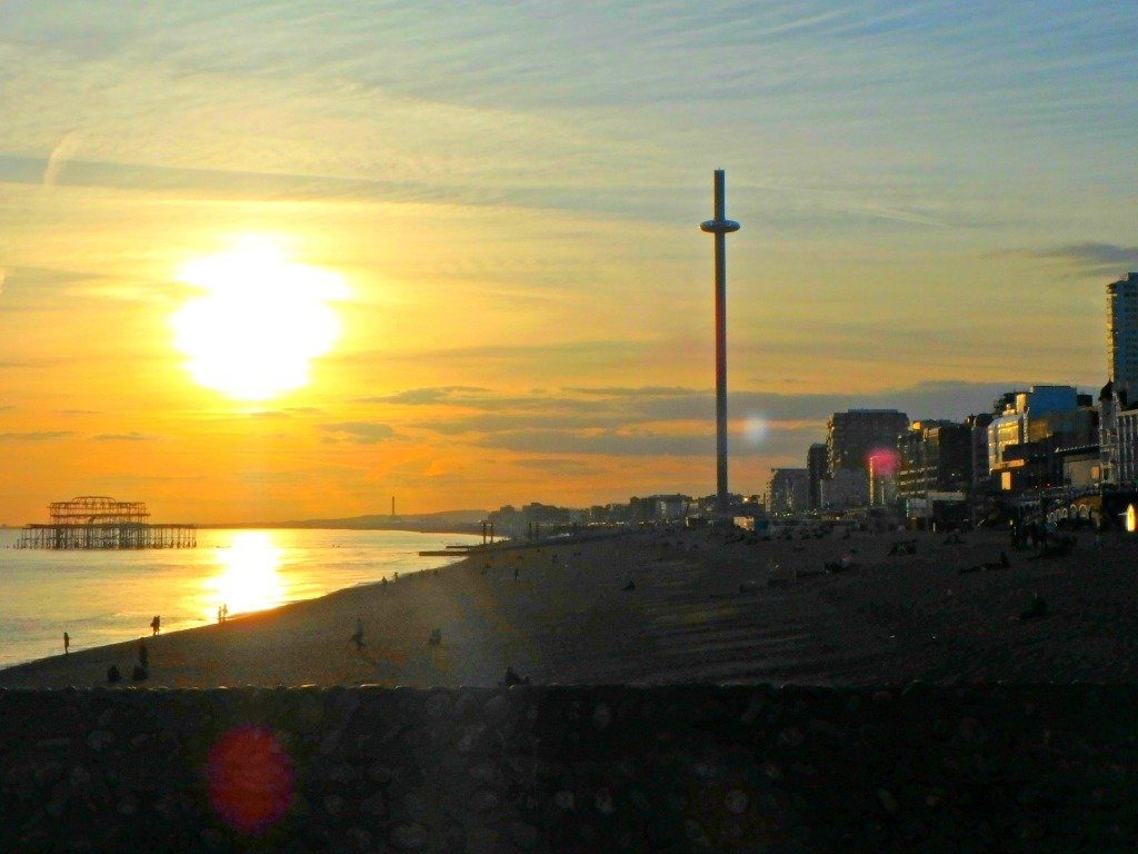 Brighton seafront sunset