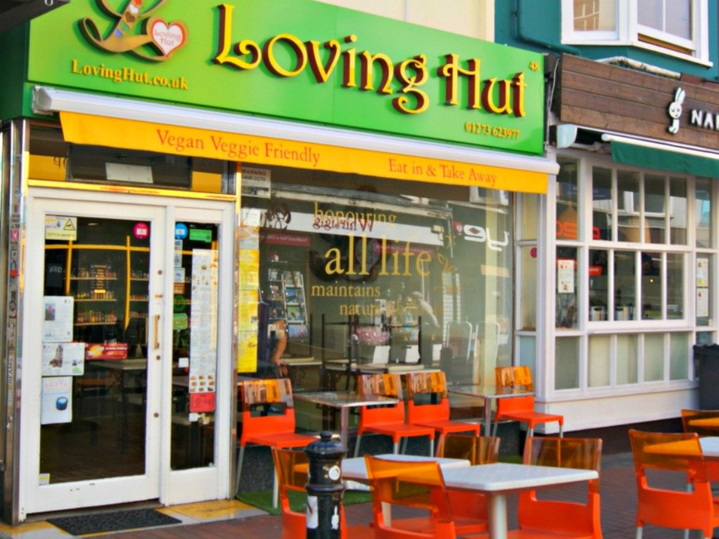 Vegetarian restaurant loving hut