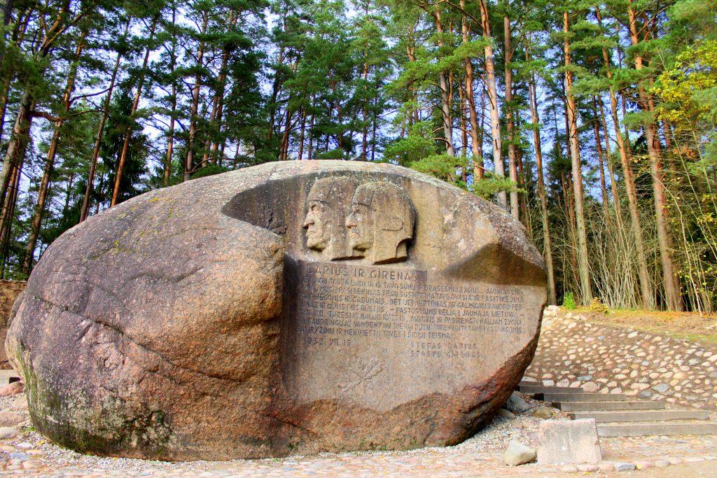 Puntuko stone, Anyksciai, lithuania