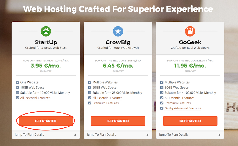 Siteground packages to start a travel blog
