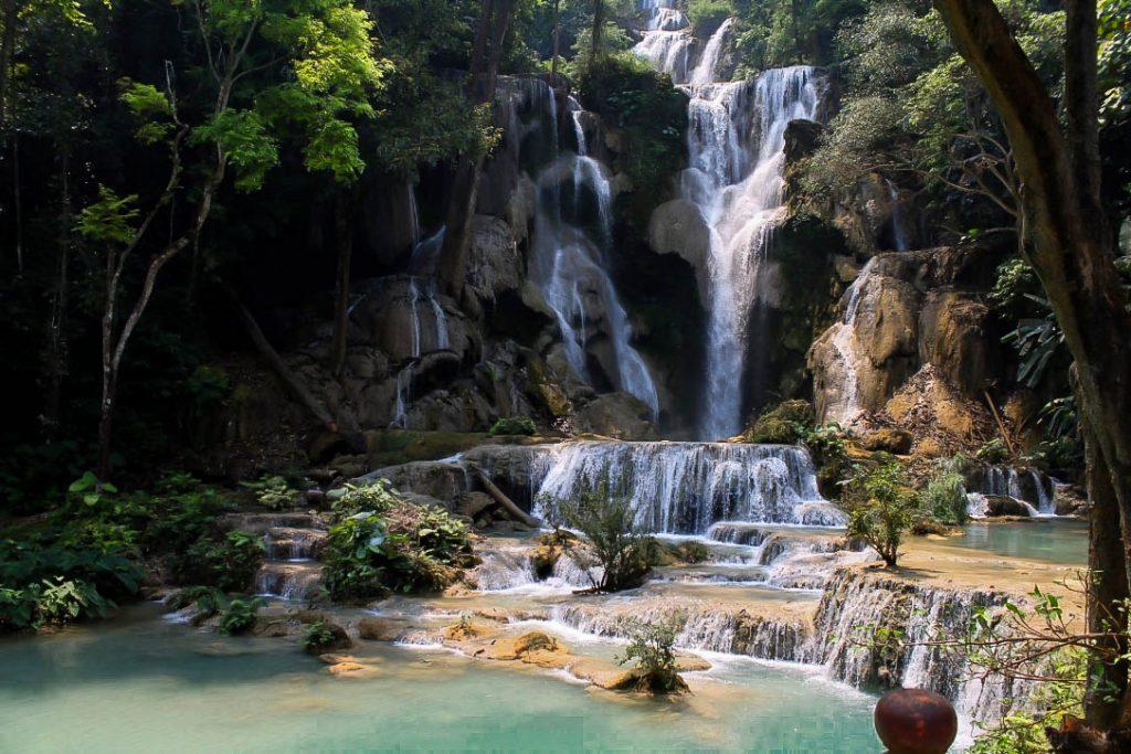 kuang si waterfall, luang prabang,laos