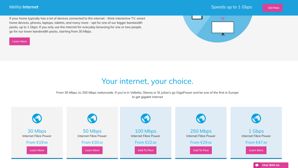 Cost of Living in Malta - Internet Costs