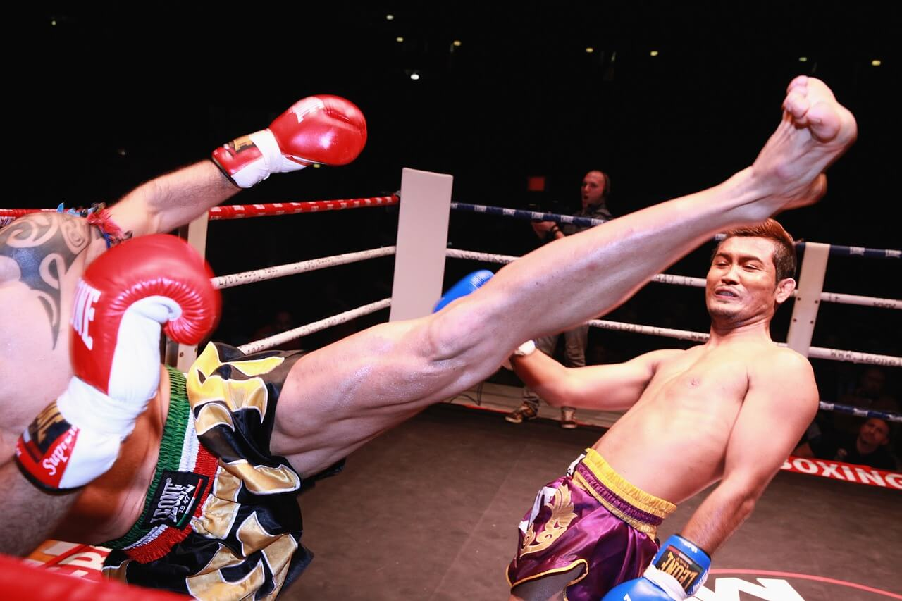 thai muay boxing match